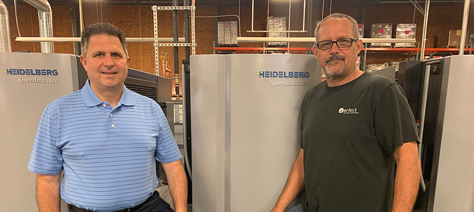 "Olivo's Perfect Printing Expands into 40"" Market with Heidelberg Speedmaster CX 102-5+L"